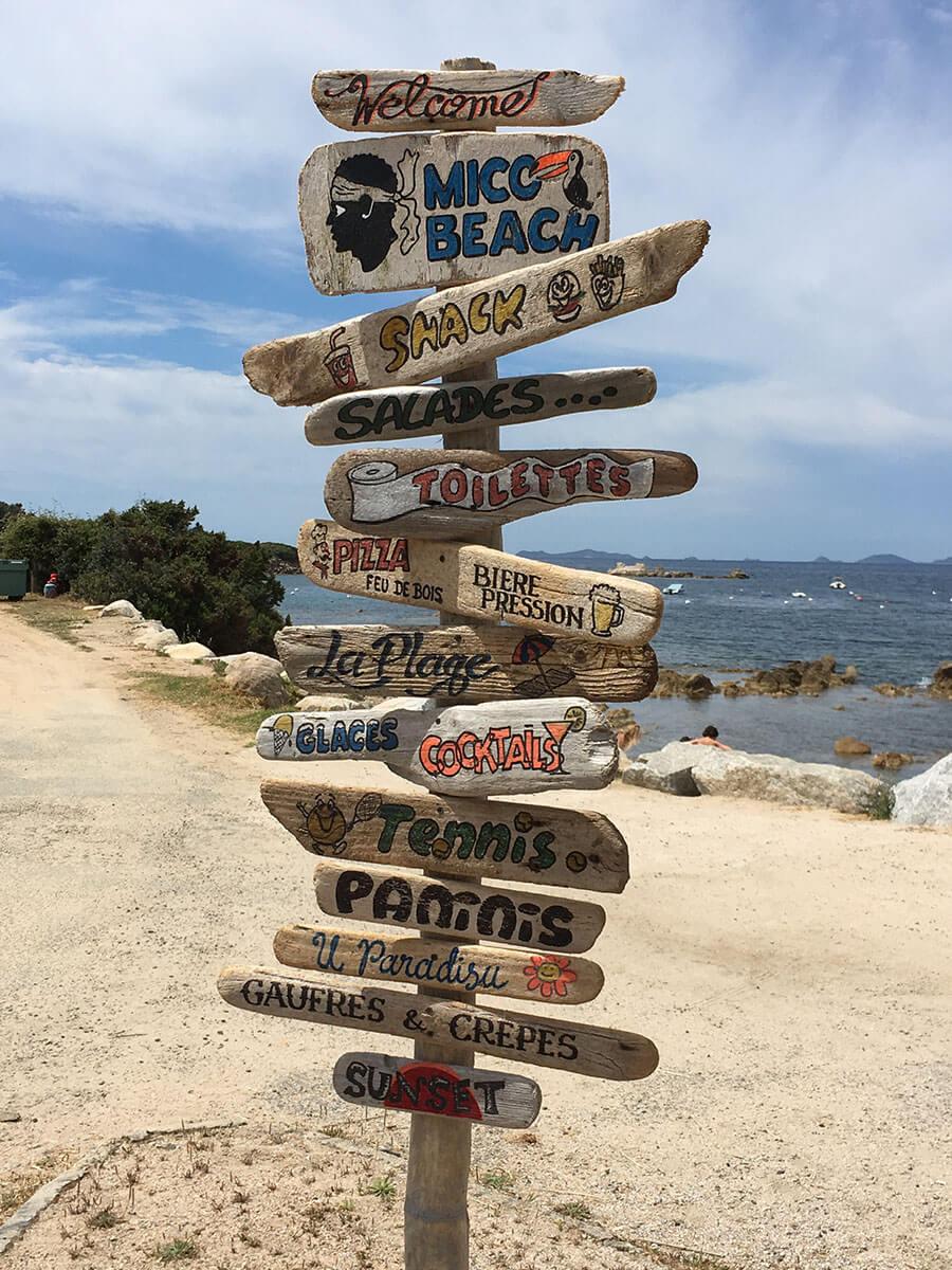 U Castellu Beach Direction
